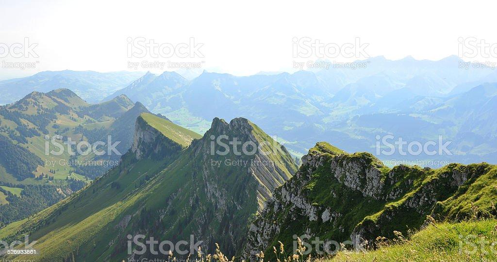 Pre-Alps in Gruyere area - Switzerland stock photo