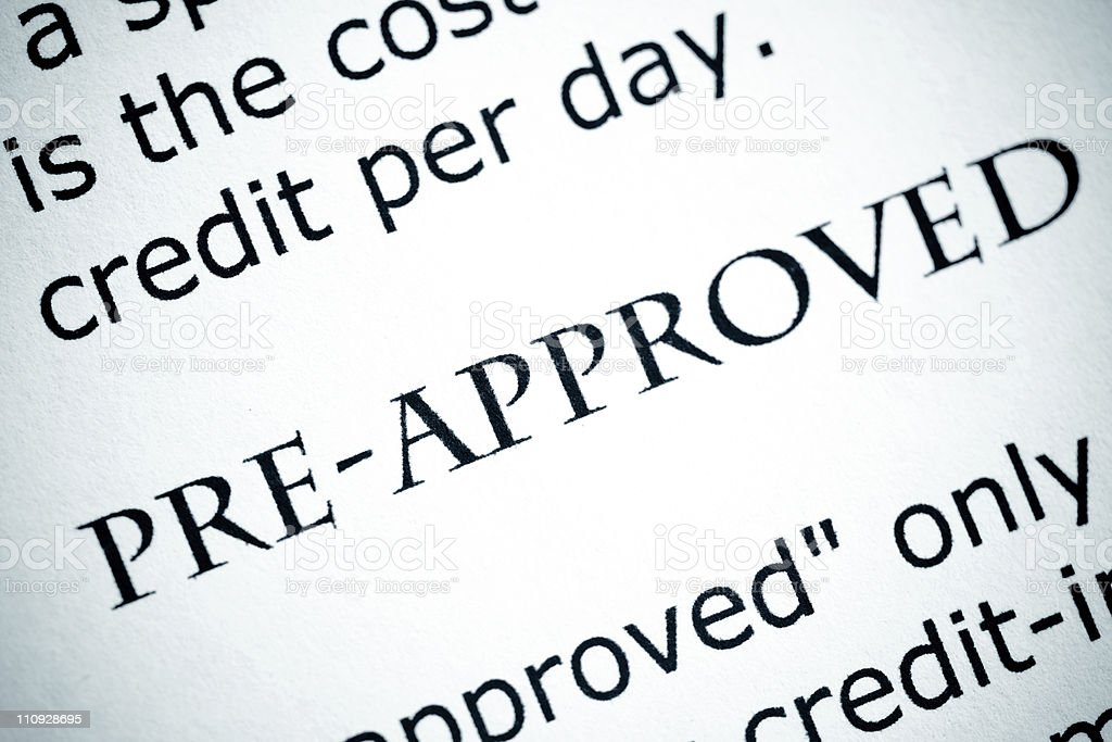 Pre-Approved royalty-free stock photo