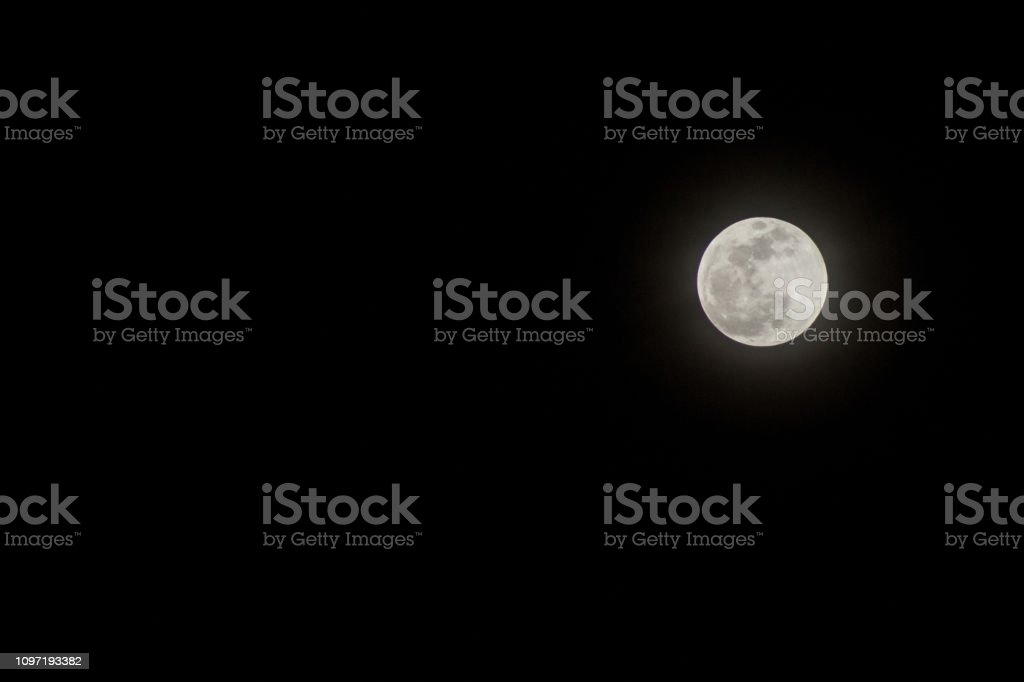 Pre-Blood Red Moon Lunar Event 2019 stock photo