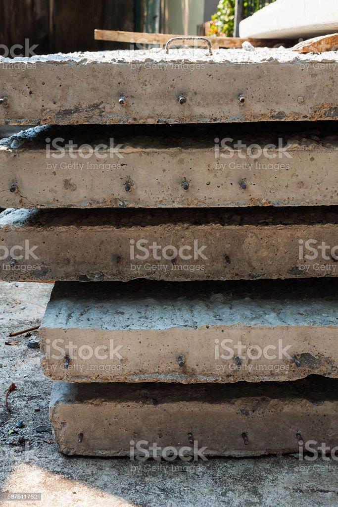 precast floor concrete floor plank stock photo