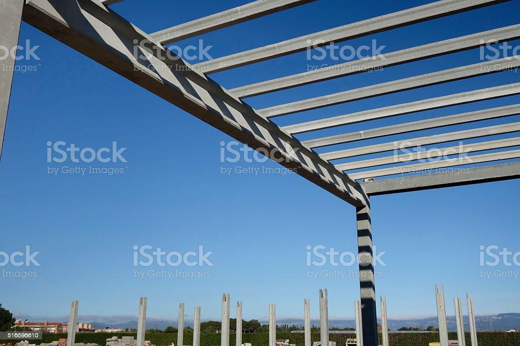Precast structure in construction stock photo