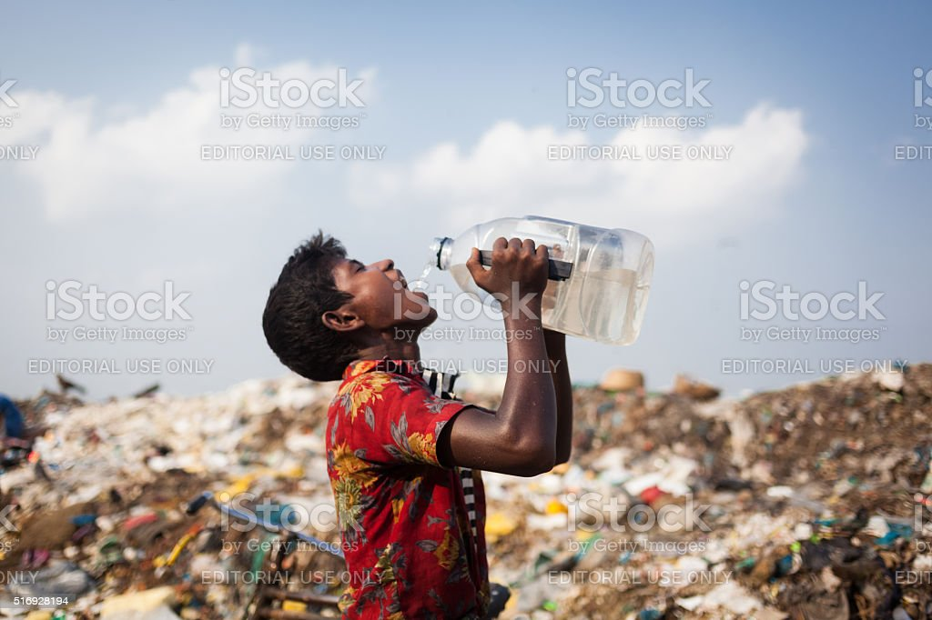 Precious Drinking Water stock photo