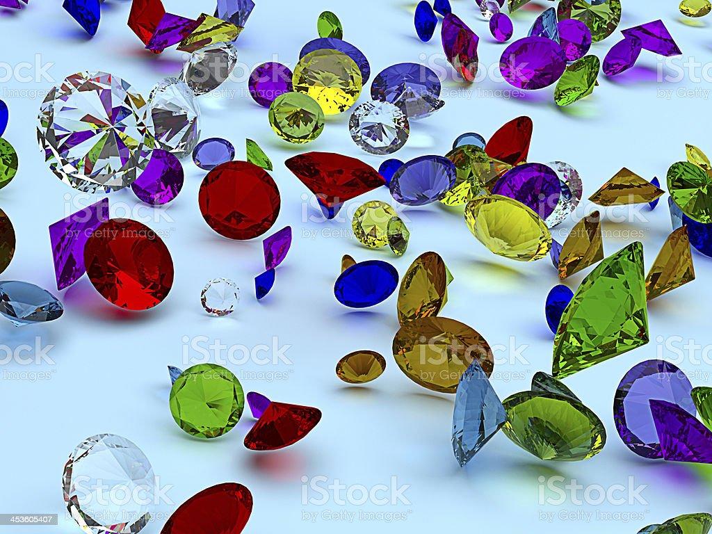 Precious gems royalty-free stock photo