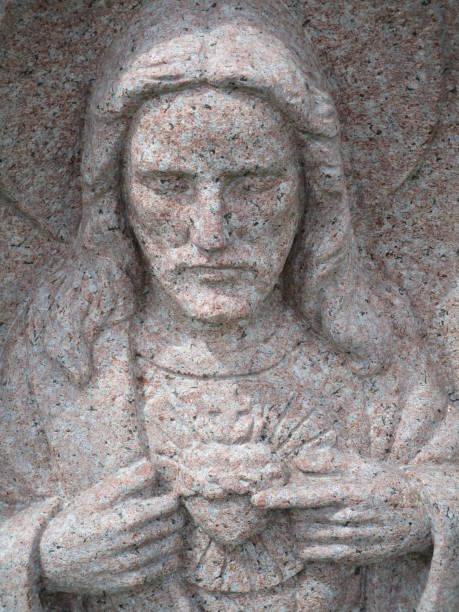precious heart jesus - jesus and heart zdjęcia i obrazy z banku zdjęć