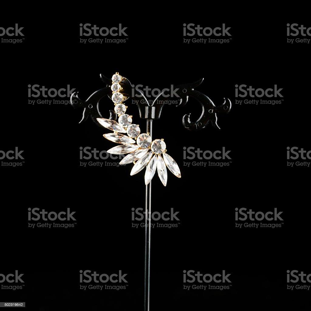 Precious jewellery brooch stock photo