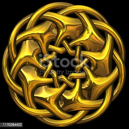 istock Precious Metal Gold Wreath Band Knot - Seamless Tile Pattern HD - 01 1170284422