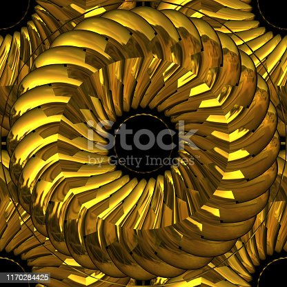 istock Precious Metal Gold Wreath Band Knot - Seamless Tile Pattern HD - 03 1170284425
