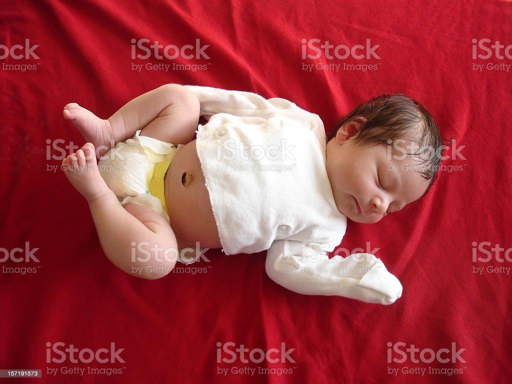 Precious Newborn Baby stock photo