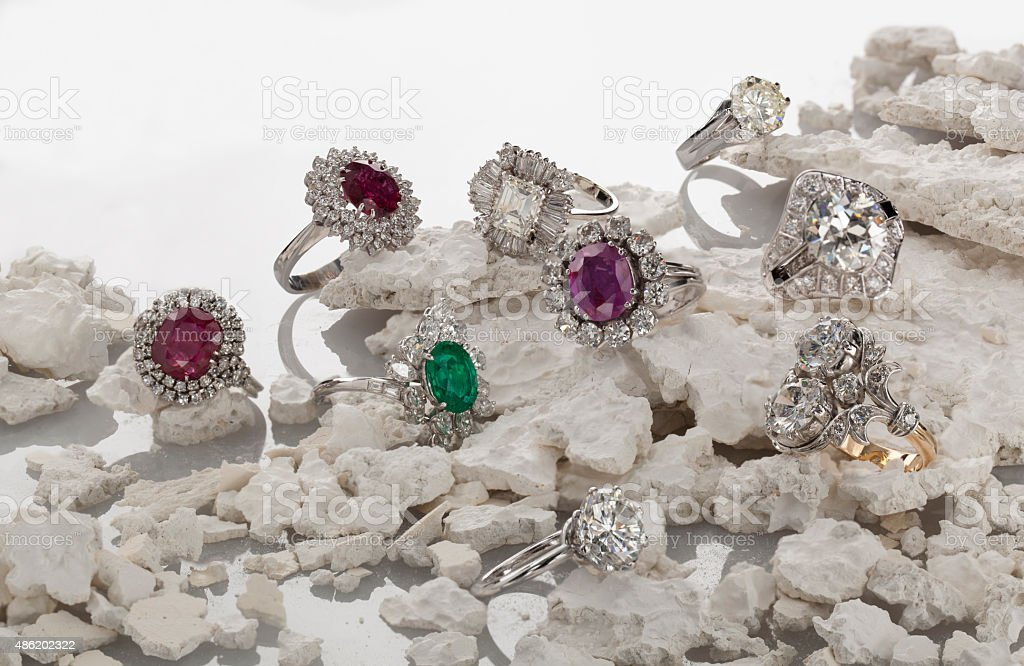 Precious Rings stock photo