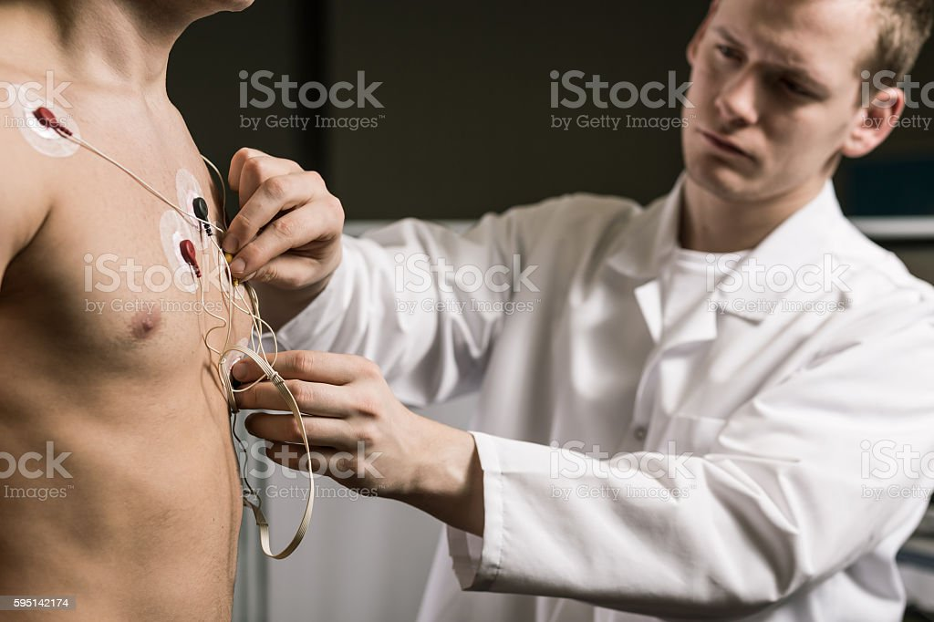 Precise collection of examination results stock photo