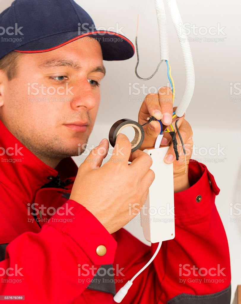 Precise Electrical Installation stock photo
