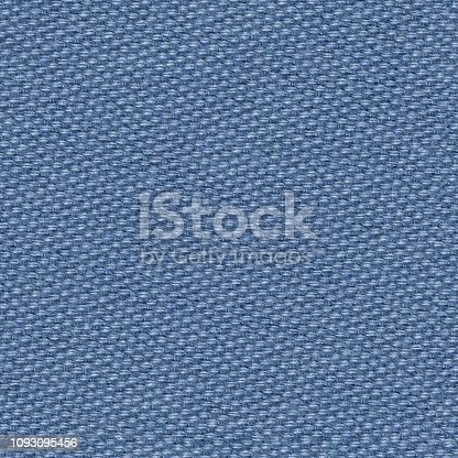 istock Precise fabric background in blue tone. Seamless square texture. 1093095456