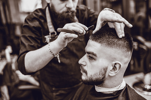 Precise Haircut With Razor By Expert Barber