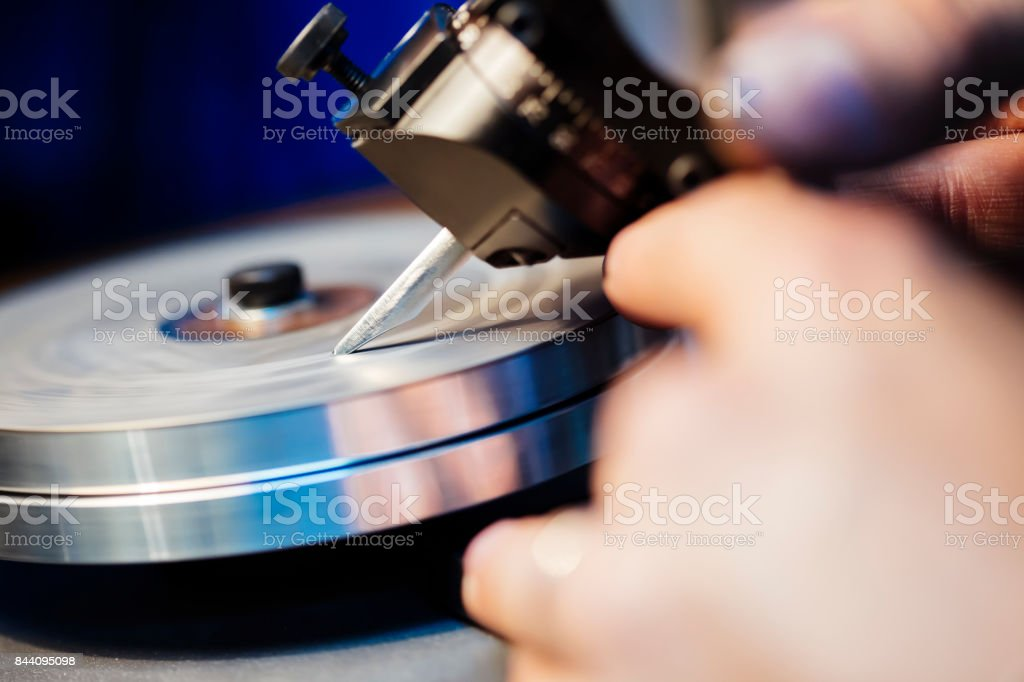 Precise sharpening with whet stock photo