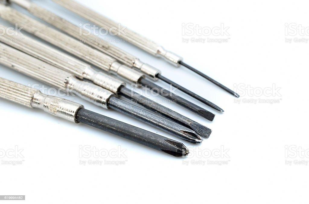Precision screwdriver stock photo