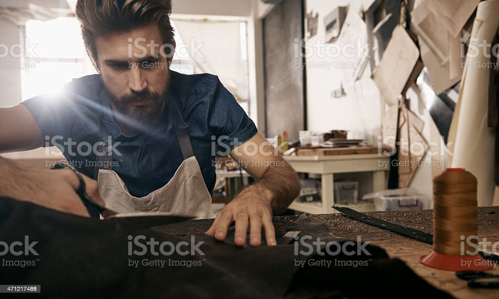 Precision - the mark of a true craftsman stock photo