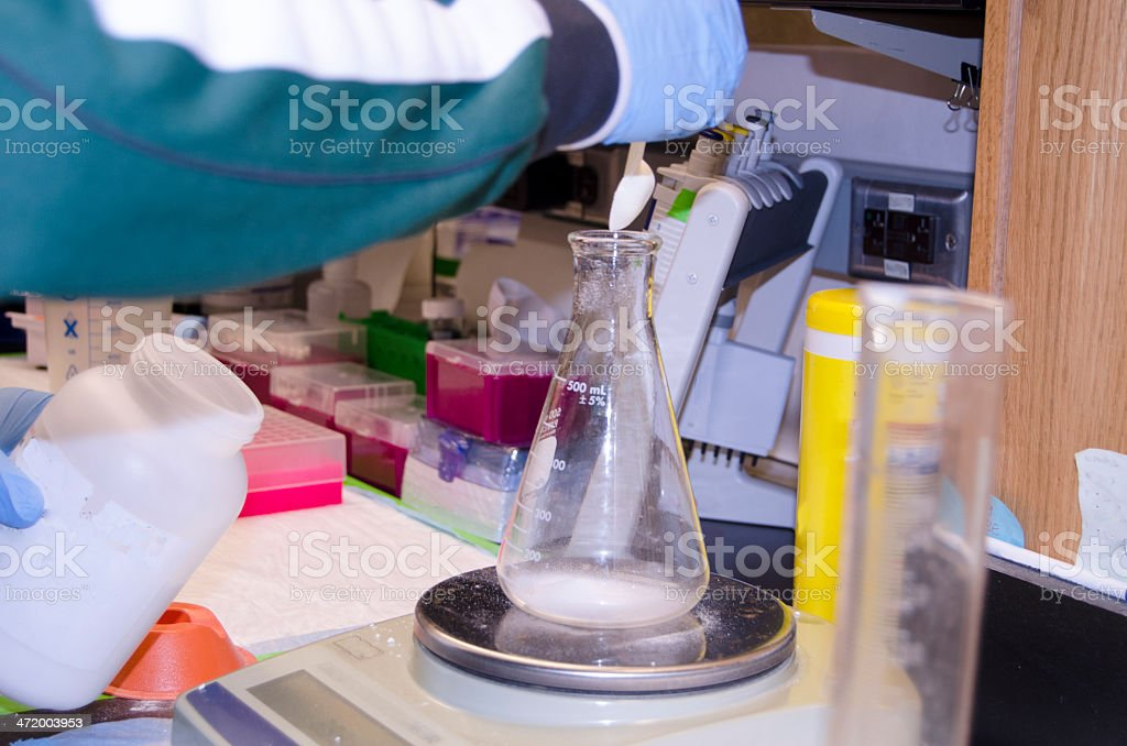 Precision Weighing DNA/RNA Analysis stock photo
