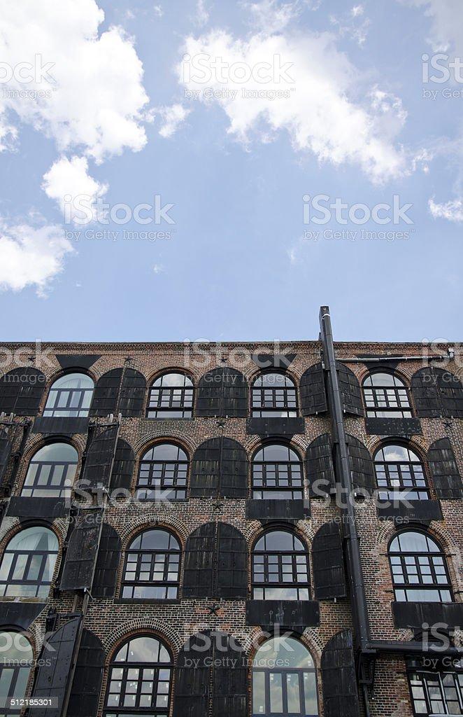 Pre-Civil War facade in Brooklyn stock photo