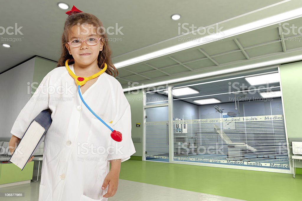 Precocious doctor royalty-free stock photo
