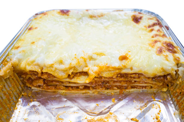 Vorgekochte Lasagne-Folienschale – Foto