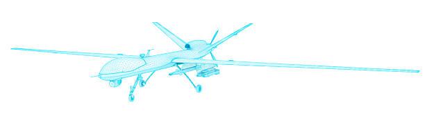 MQ-1 Predator in Flight UAV (Unmanned aerial vehicle) stock photo