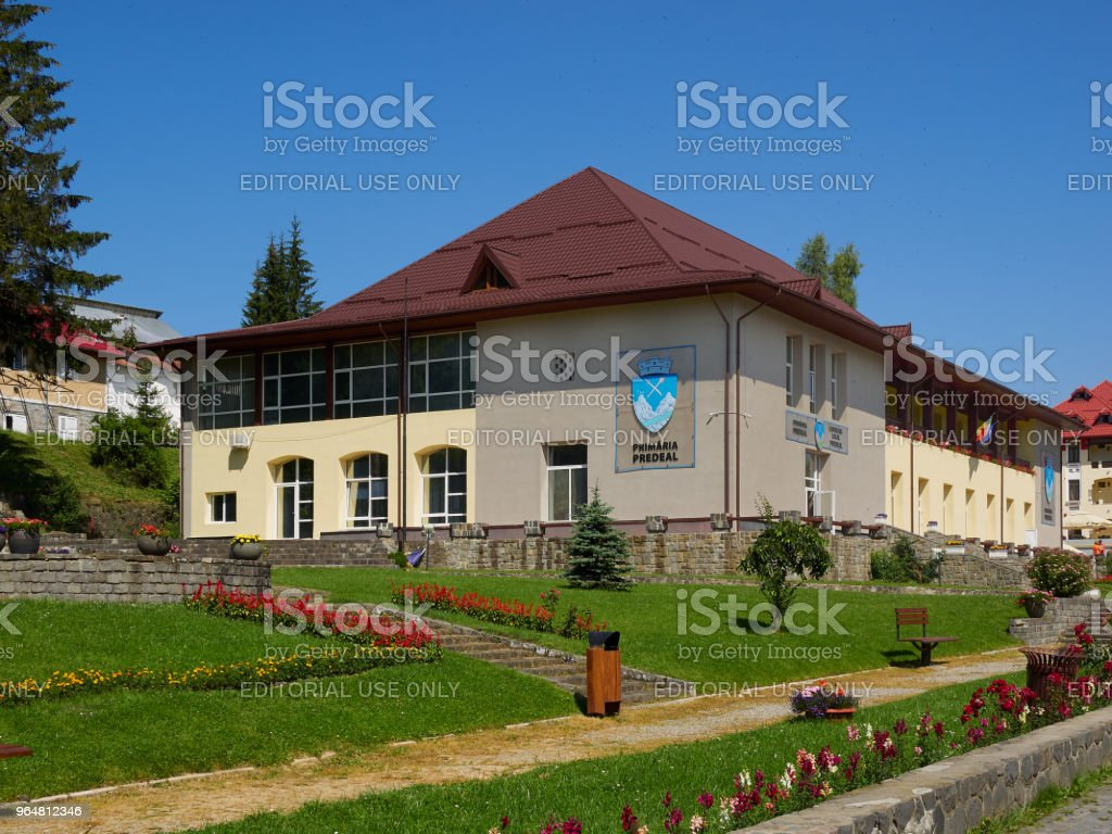 Predeal town hall stock photo