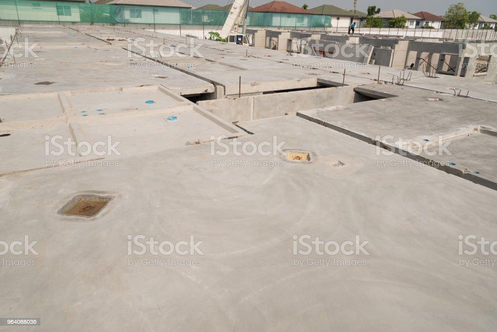 Prefabricated Concrete Floor Slab Panel On Construction Site