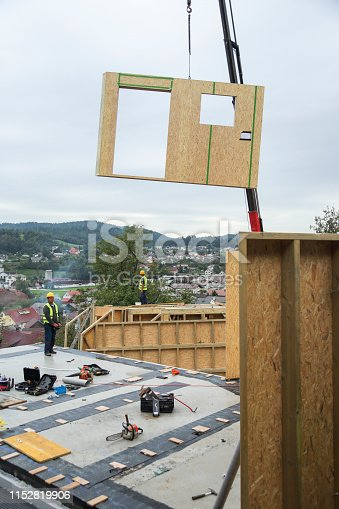 istock Prefabricated house construction site 1152819906