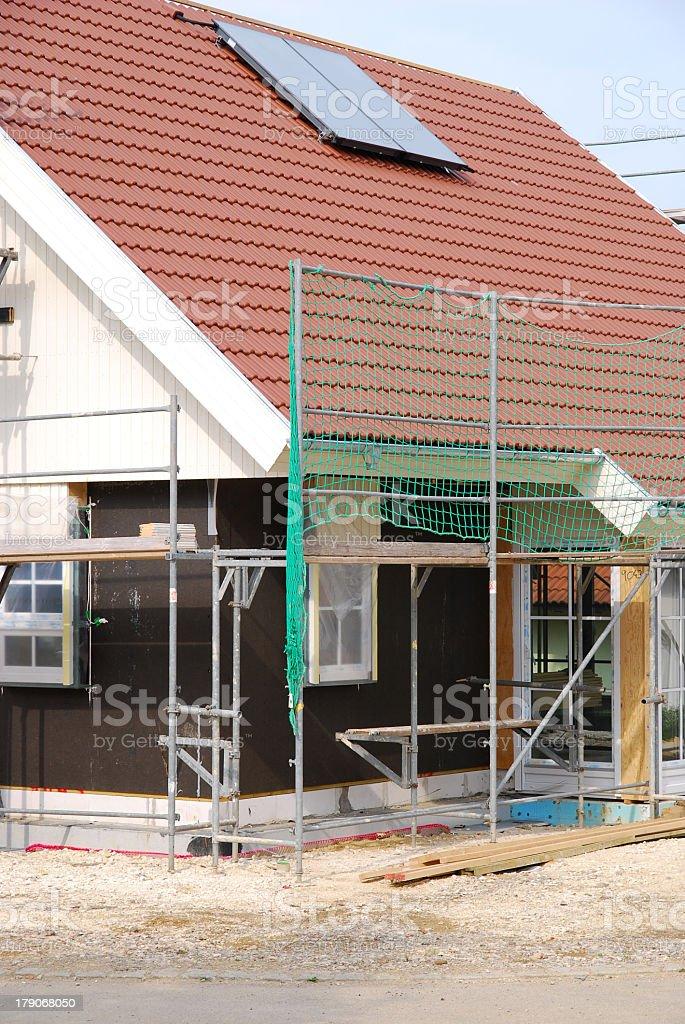 prefabricated house stock photo