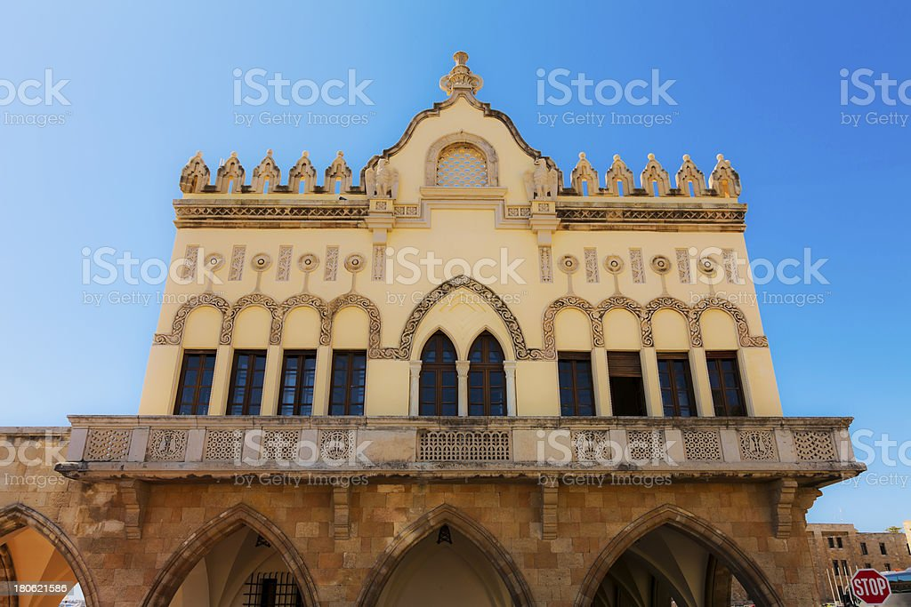 Prefecture Building-Rhodes royalty-free stock photo