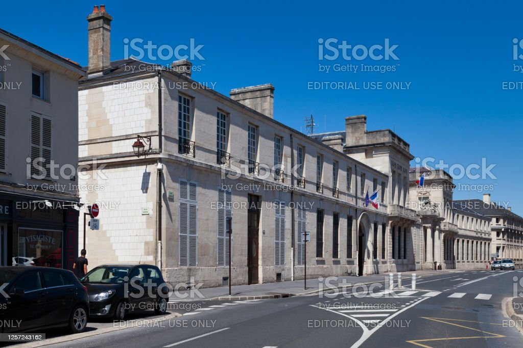 Prefecture of the Marne in Châlons-en-Champagne Châlons-en-Champagne, France - June 25 2020: The Prefecture of the Marne is located in the city center opposite the Departmental archives of Marne. Architecture Stock Photo