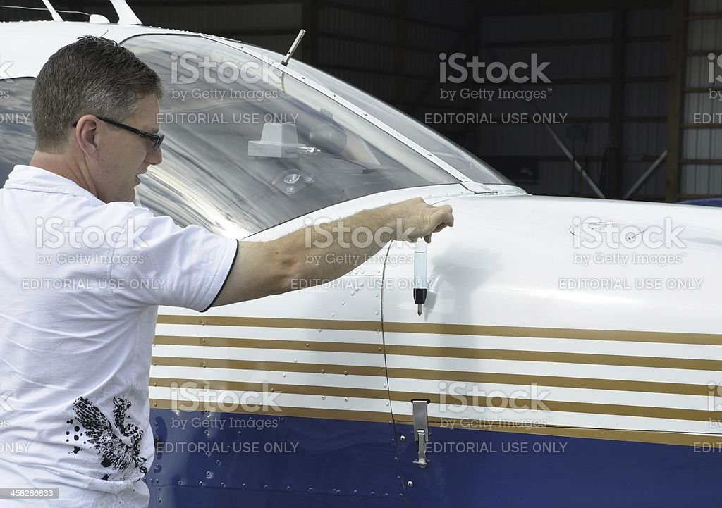 Preflight fuel gas check royalty-free stock photo