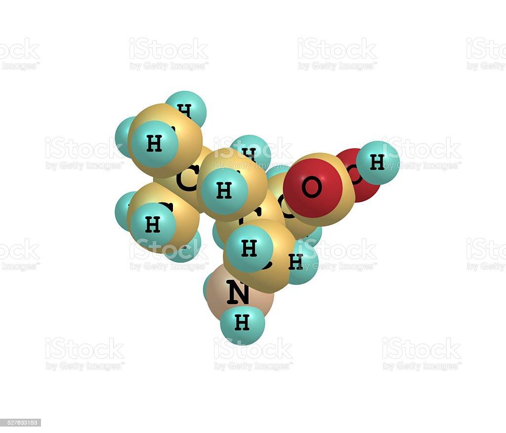 Pregabalin molecule isolated on white stock photo