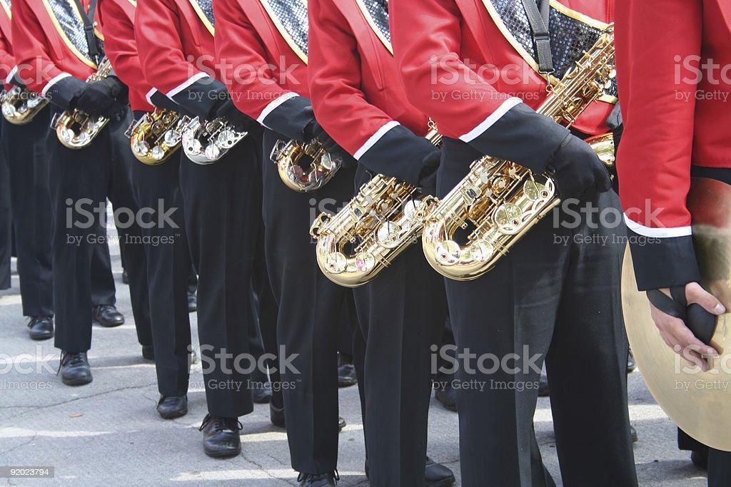 pre-game parade stock photo