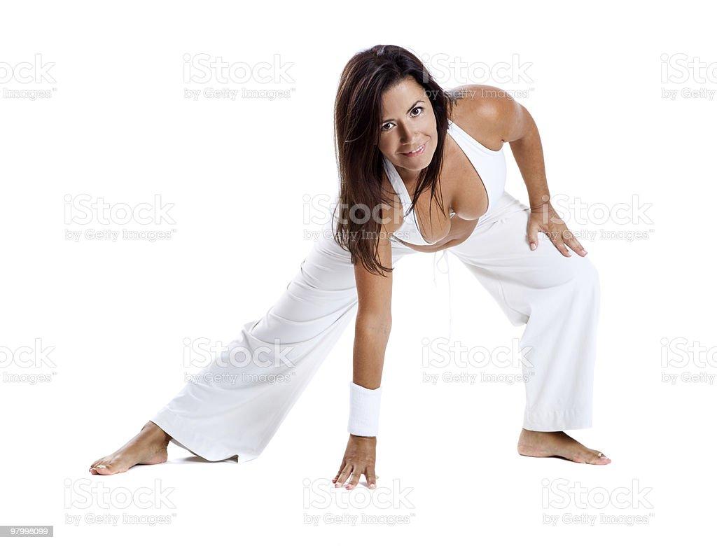 Pregnancy exercises royalty free stockfoto