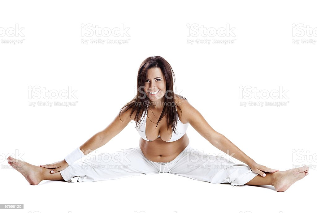 Pregnancy exercises royalty-free stock photo