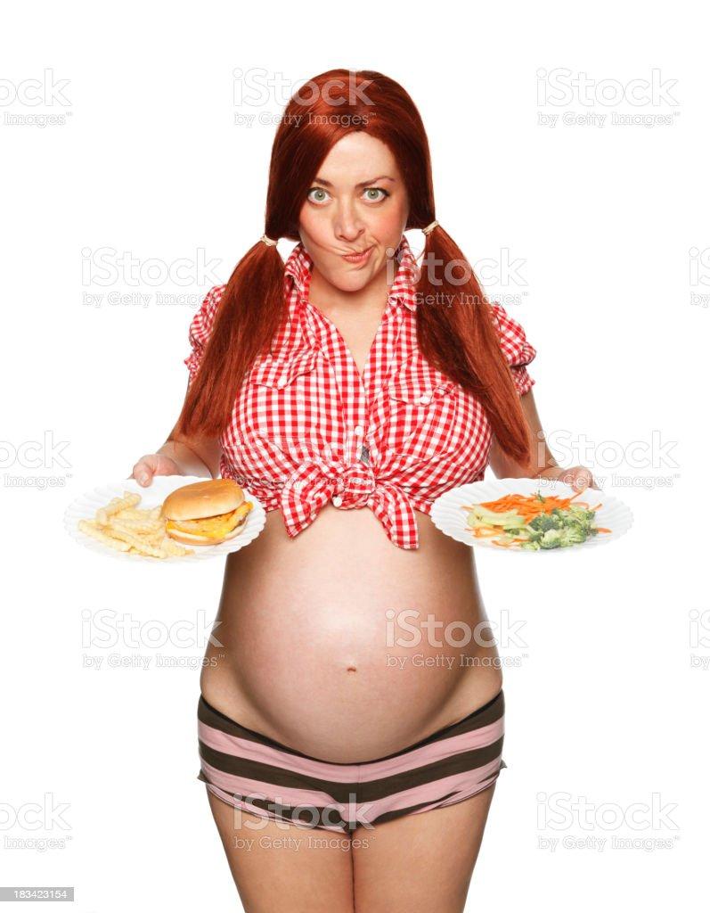 Embarazo opciones de alimentos - foto de stock