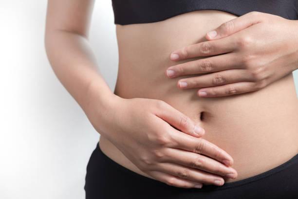 Pregnancy or diet concept stock photo
