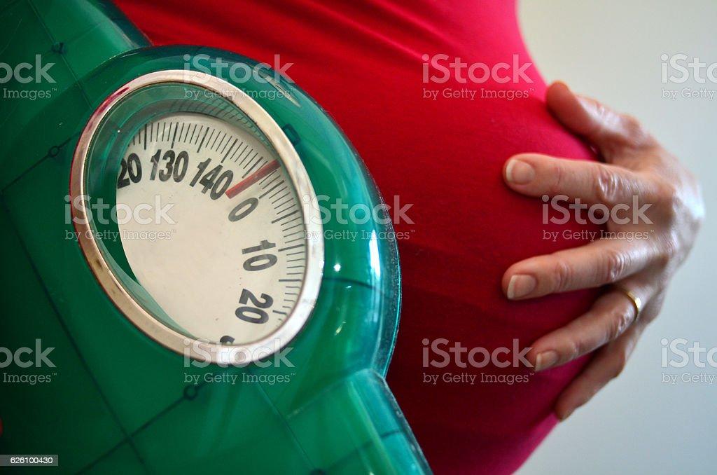 Pregnancy - pregnant woman health care - foto de stock