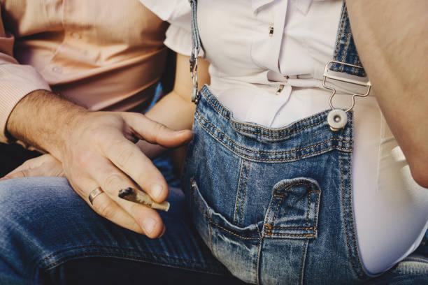 Pregnancy smoking prenatal maternity health risk stock photo