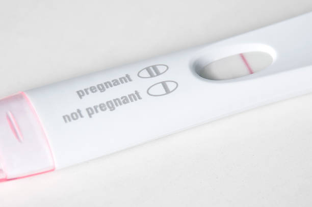 Pregnancy Test Close-Up - Not Pregnant stock photo