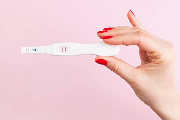 Pregnancy test. stock photo