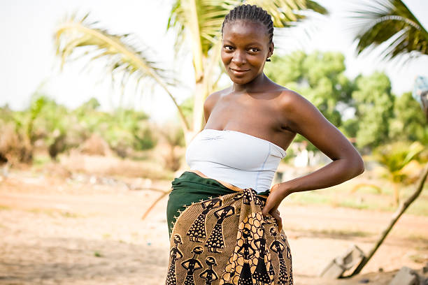 Pregnant African Woman stock photo