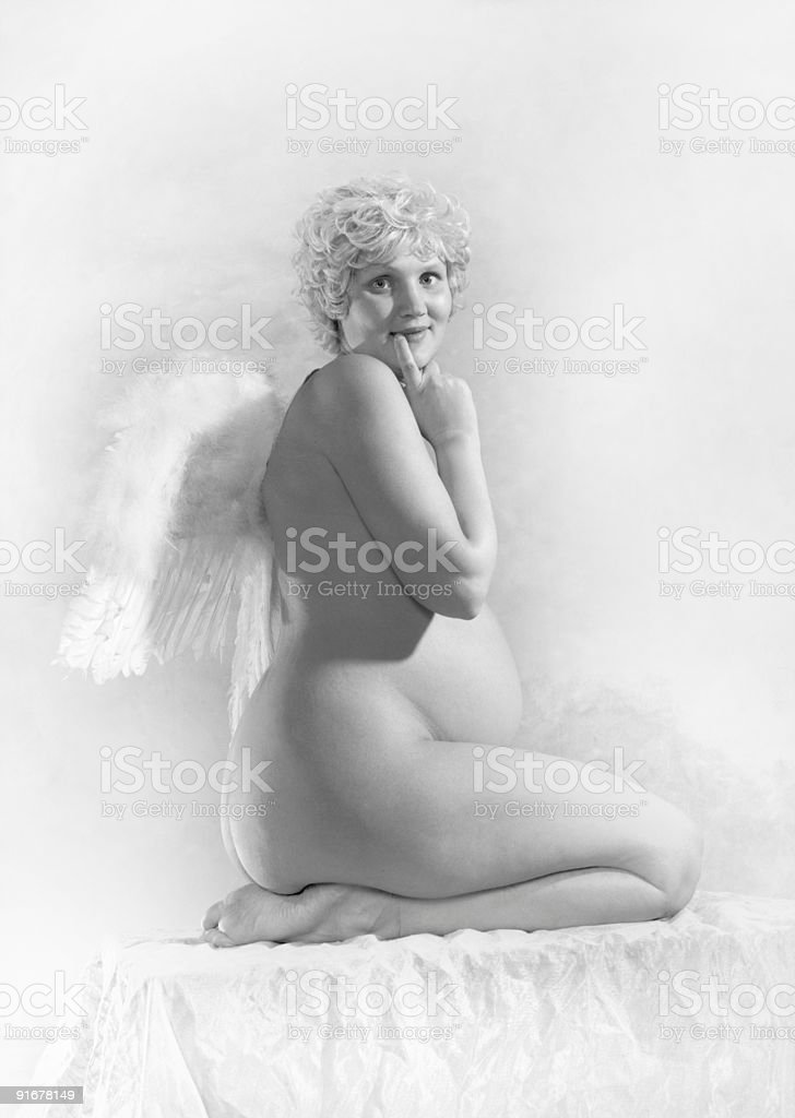 pregnant angel royalty-free stock photo