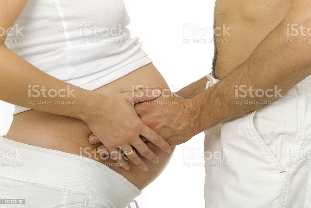 Pregnant Couple royalty-free stock photo