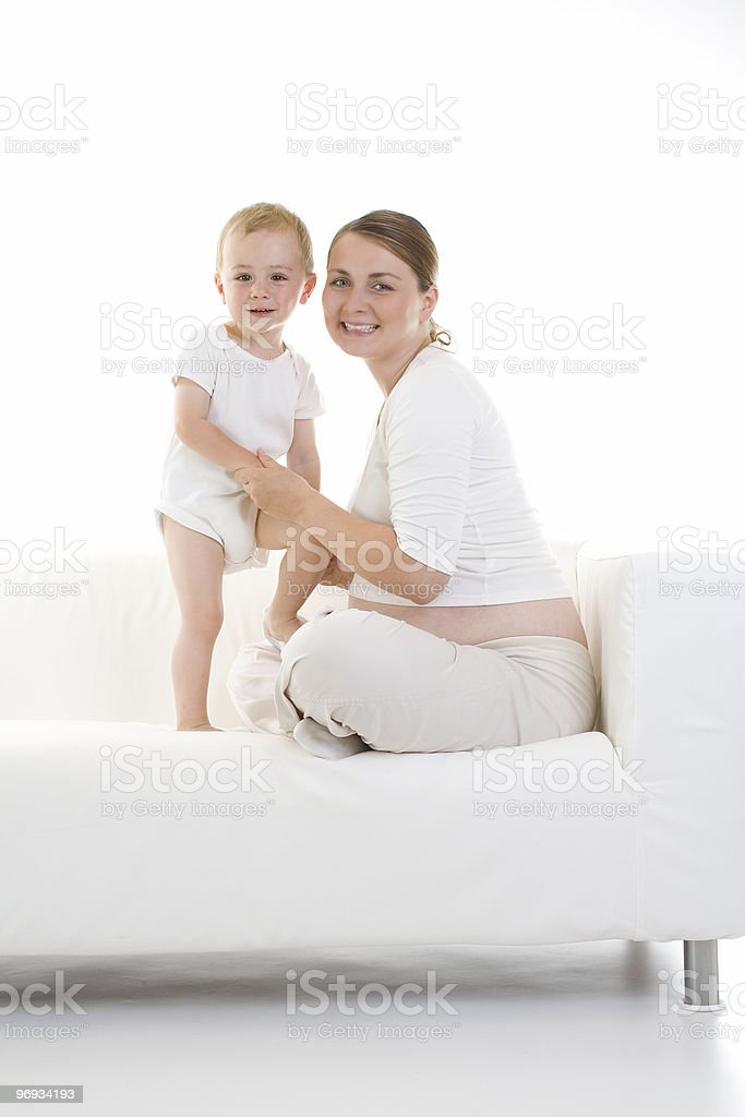 Pregnant mother and child royalty-free stock photo