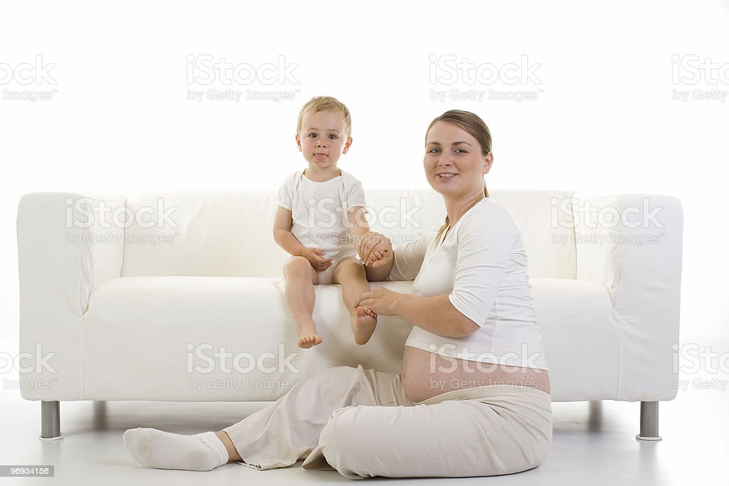 Pregnant Mother with Toddler royalty-free stock photo