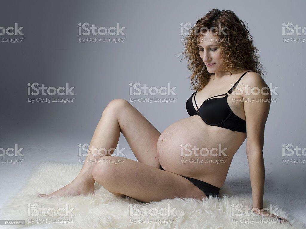 Pregnant royalty-free stock photo