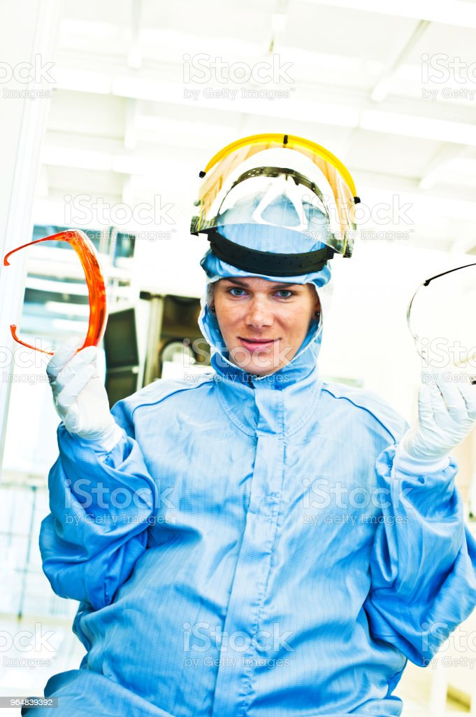 Pregnant Scientist In The Laboratory royalty-free stock photo