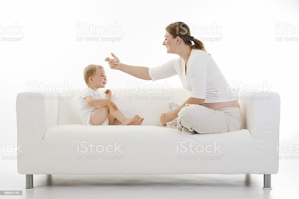 Pregnant woman and child royalty-free stock photo